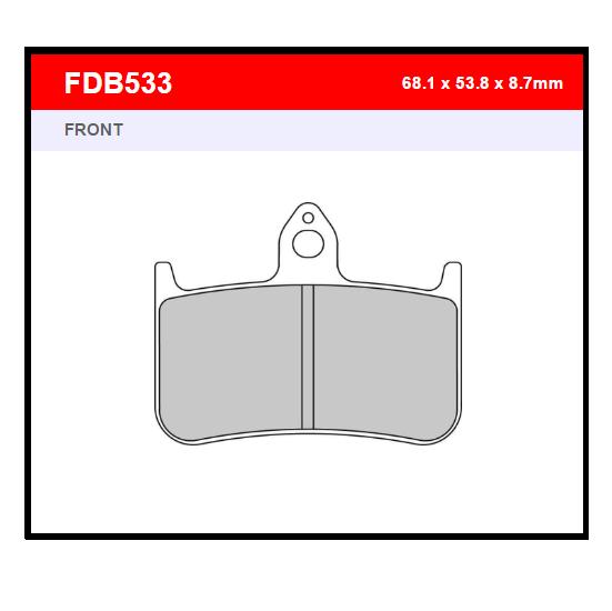 PASTILLA FERODO FDB533P