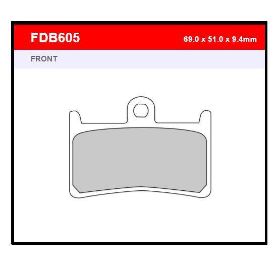 PASTILLA FERODO FDB605EF