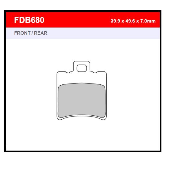 PASTILLA FERODO FDB680EF