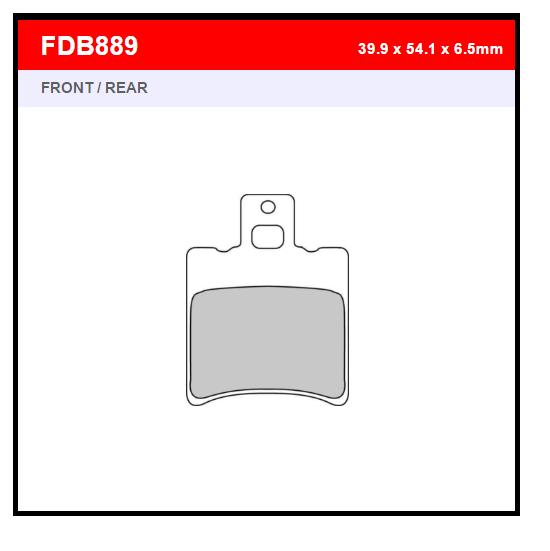PASTILLA FERODO FDB889EF