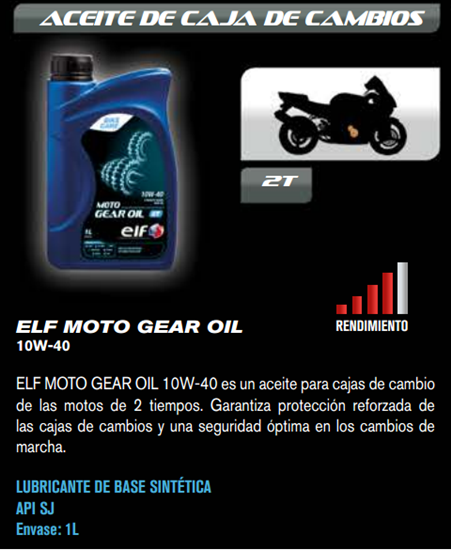 ACEITE ELF GEAR OIL 10W40 1L.