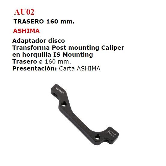 ADAPTADOR DISCO TRASERO 160 (AU02)