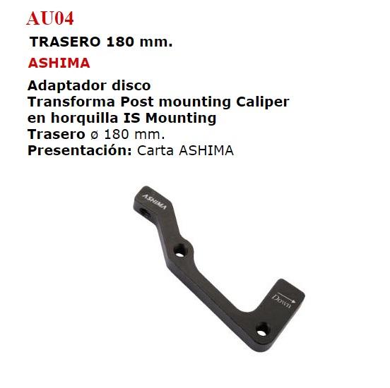 ADAPTADOR DISCO FRENO BICICLETA TRASERO 180 (AU04)