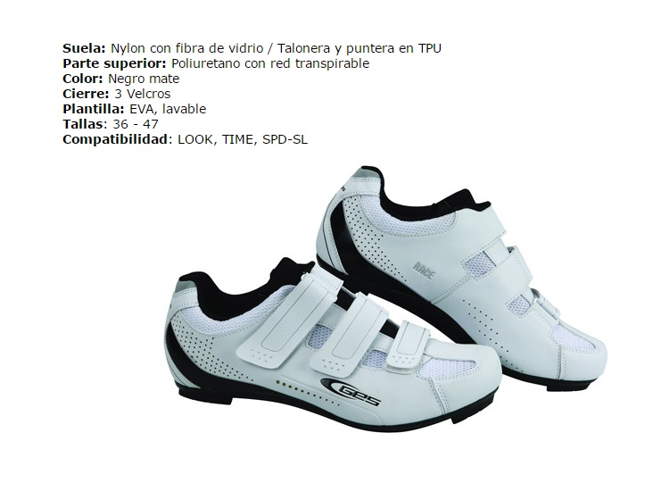 ZAPATILLAS GES CARRETERA RACE BLANCO 43