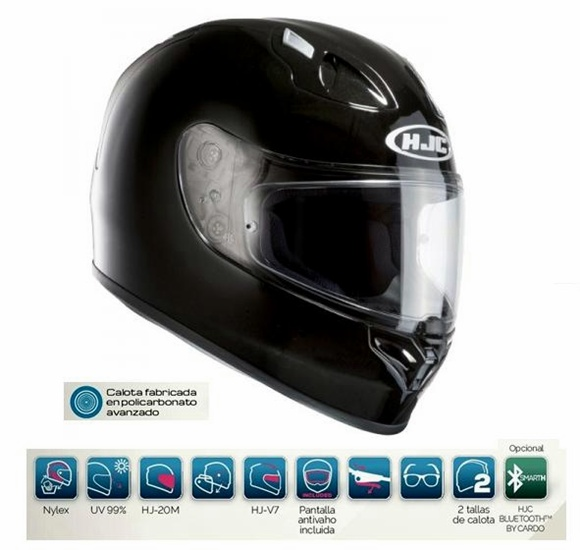 CASCO HJC INTEGRAL FG17 NEGRO METAL L