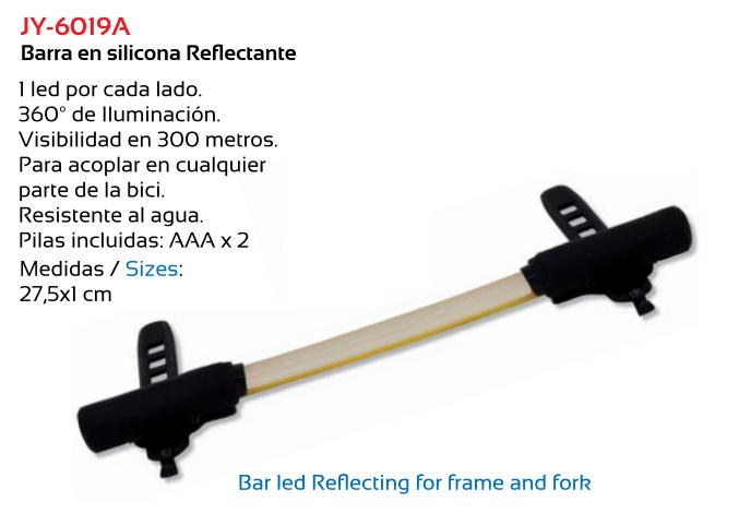 BARRA LUZ SILICONA REFLECTANTE 1X2 LED 360. 300 MTS