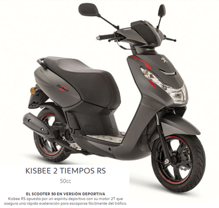 CICLOSCOOTER PEUGEOT KISBEE 2T RS EURO 4