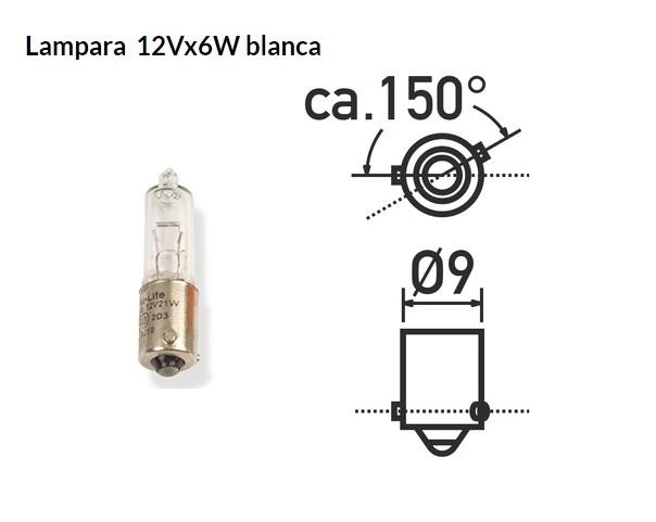 LAMPARA 12V 06W BAX9S BAYONETA
