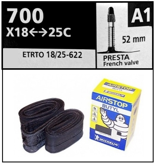 CAMARA MICHELIN 700-18-25 PRESTA A1 52mm