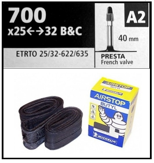 CAMARA MICHELIN 700-25-32 B&C A2  PRESTA 40mm