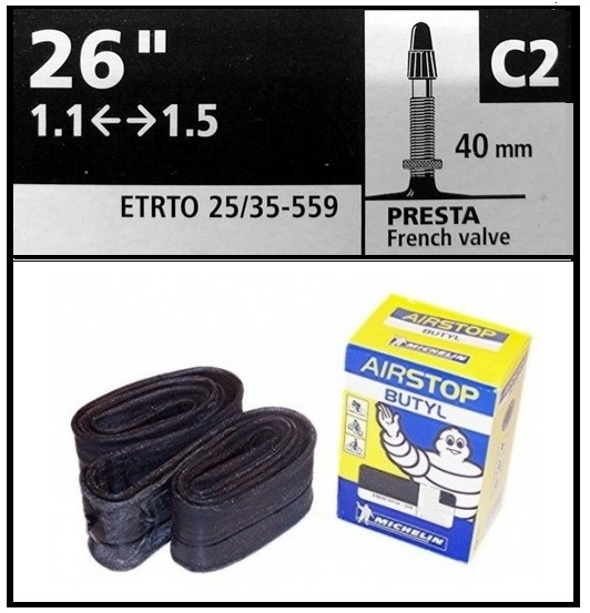 CAMARA MICHELIN 26-110-150 C2 PRESTA 40mm