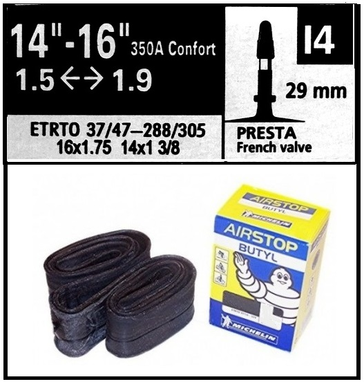 CAMARA MICHELIN 350A 14-16 150-190 I4 PRESTA 29mm