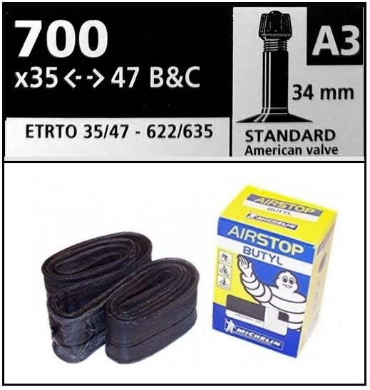 CAMARA MICHELIN 700-35-47 A3 STANDARD 34mm