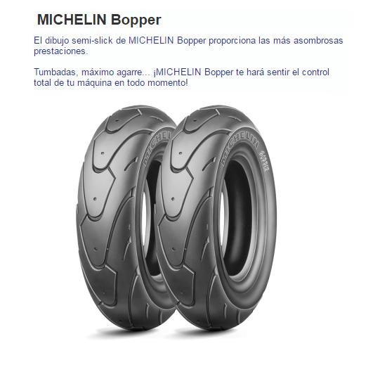 CUBIERTA MICHELIN BOPPER 120/70-12 51L F/R TL/TT