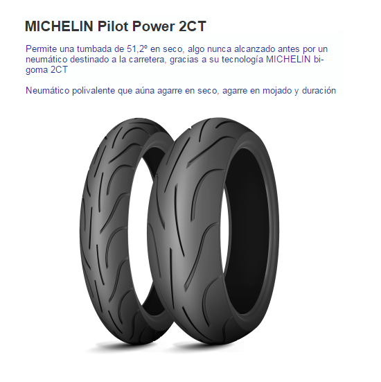 CUBIERTA MICHELIN PILOT POWER 2CT 170/60ZR17 72W R TL