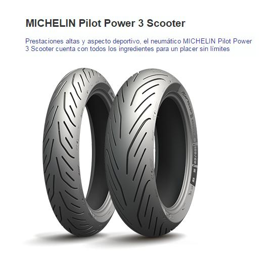 CUBIERTA MICHELIN PILOT POWER 3 SCOOTER 160/60R15 67H R TL