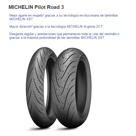 CUBIERTA MICHELIN PILOT POWER 3 120/70ZR17 58W F TL
