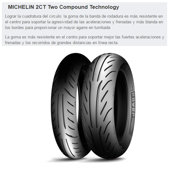 CUBIERTA MICHELIN POWER PURE SC 120/80-14 58S F TL