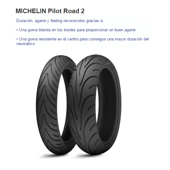 CUBIERTA MICHELIN PILOT ROAD 2 120/70ZR17 58W F TL