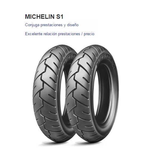 CUBIERTA MICHELIN S1 90/90-10 50J F/R TL/TT