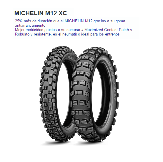 CUBIERTA MICHELIN CROSS COMP S12 XC 90/90-21 NHS F TT