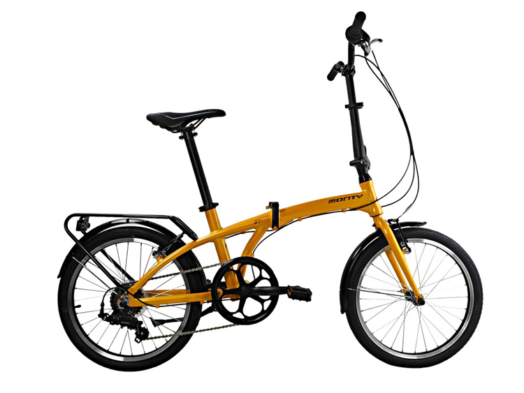 BICICLETA MONTY PLEGABLE SOURCE 20 6V AMARILLO