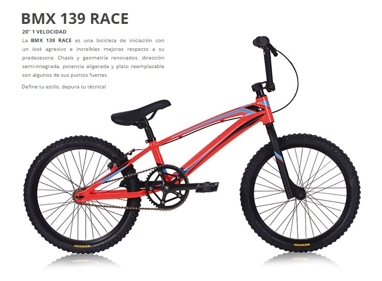 BICICLETA MONTY BMX 139 RACE Rueda 20 ROJO AZUL