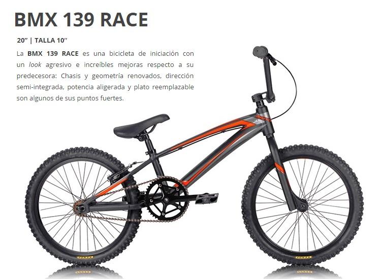 BICICLETA MONTY 17 BMX 139 RACE Rueda 20 GRIS NARANJA