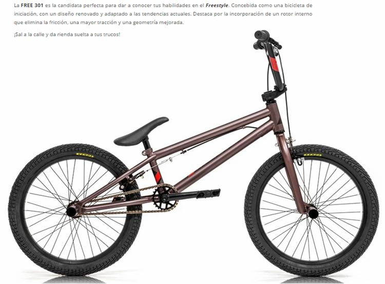 BICICLETA MONTY 16 BMX 301 FREE AC COBRE Rueda 20  1V