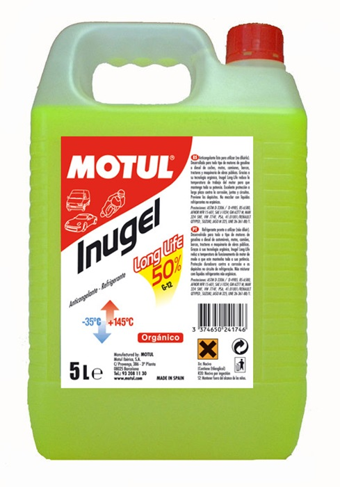 ANTICONGELANTE MOTUL INUGEL LONG LIFE 50% 5L.