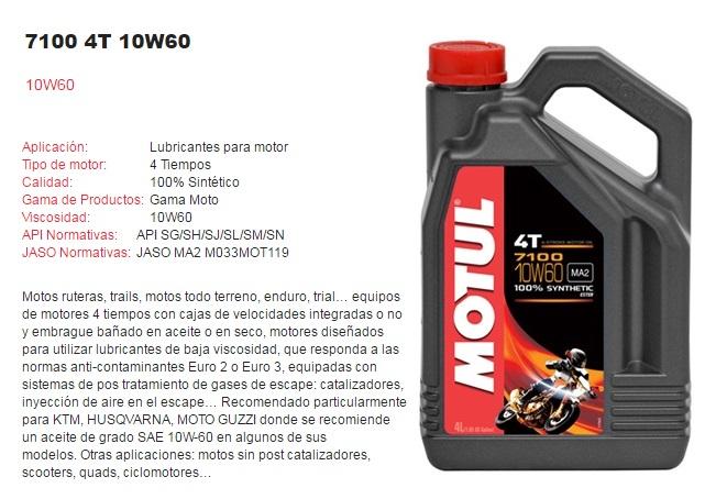 ACEITE MOTUL 7100 10W60 4T 4L.