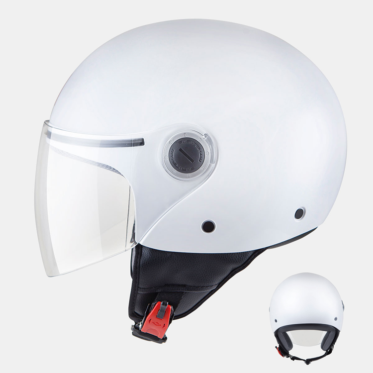 CASCO MOTO MT JET STREET BLANCO BRILLO S