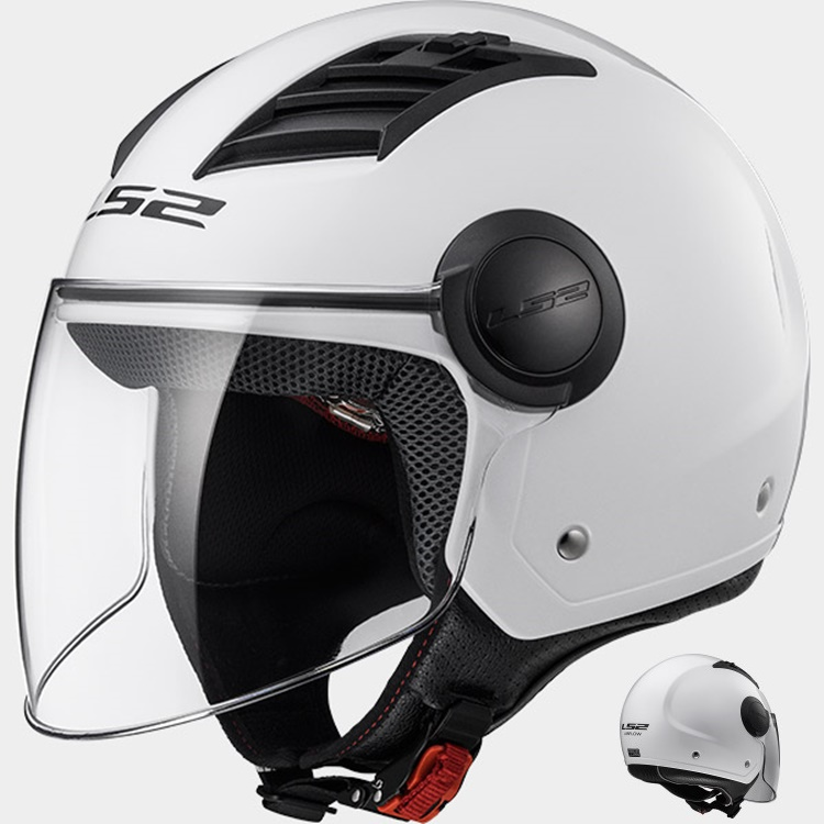 CASCO MOTO LS2 JET AIRFLOW L OF562 BLANCO XS