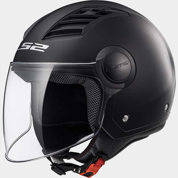 CASCO MOTO LS2 JET AIRFLOW L OF562 NEGRO MATE XXS