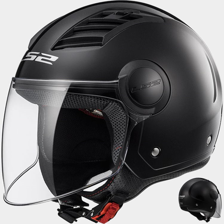 CASCO LS2 JET AIRFLOW L OF562 NEGRO S