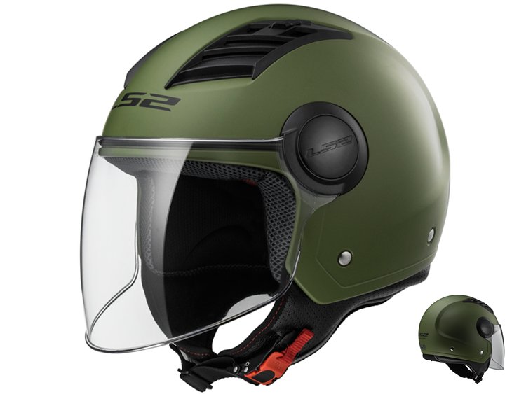 CASCO LS2 JET AIRFLOW L OF562 VERDE MILITAR XL
