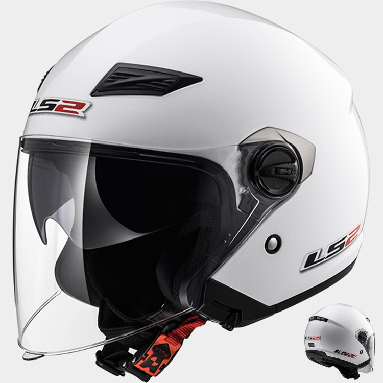 CASCO MOTO LS2 JET TRACK OF569 BLANCO XS