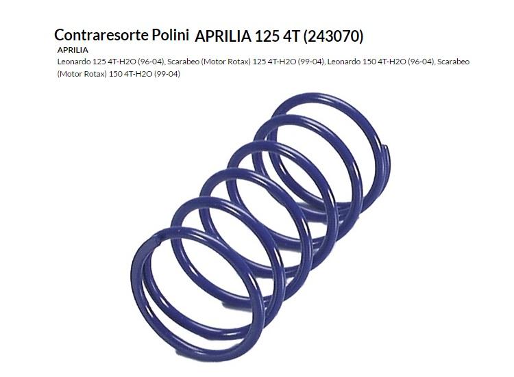 CONTRARESORTE APRILIA 125 4T