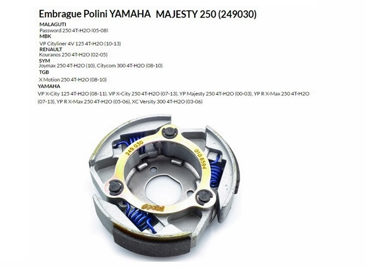EMBRAGUE POLINI YAMAHA MAJESTY 250