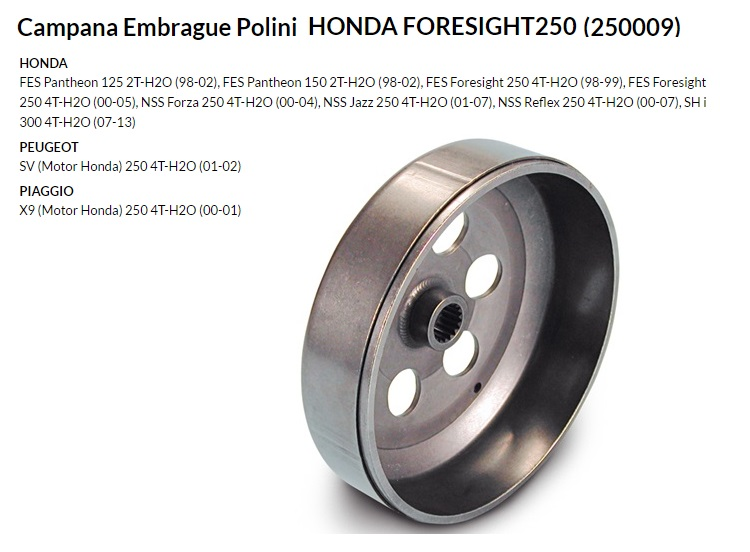 CAMPANA EMBRAGUE HONDA FORESIGHT250