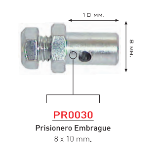 PRISIONERO EMBRAGUE 8 X 10