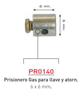 PRISIONERO GAS DESTORNILLADOR 6 MM