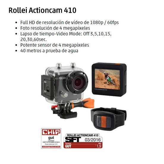 CAMARA VIDEO ROLLEI 410 FULL HD WIFI