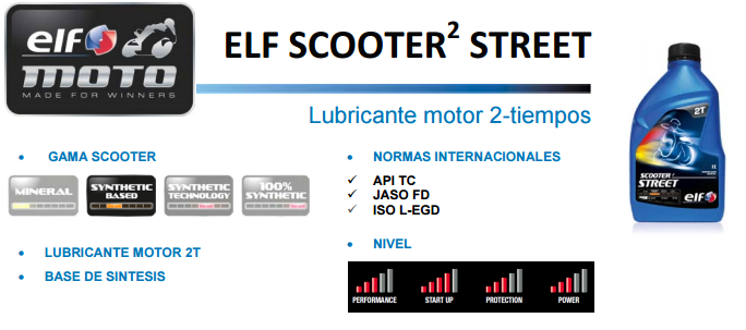 ACEITE ELF SCOOTER 2 STREET 1 L.