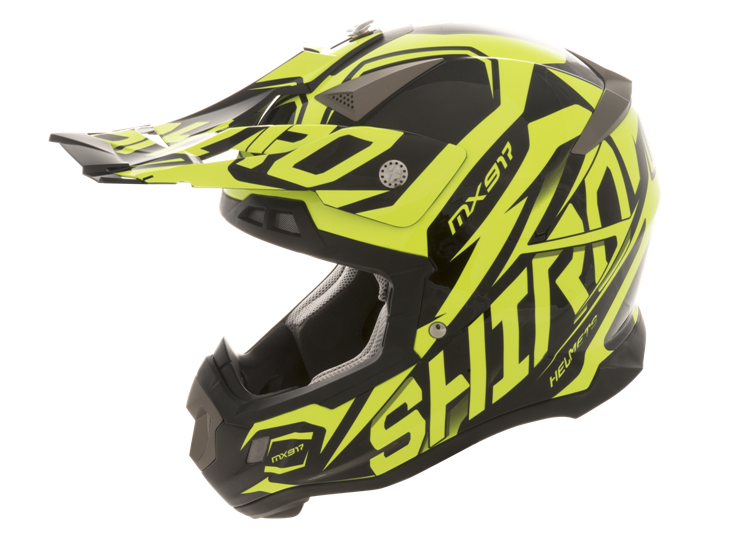 CASCO MOTO SHIRO CROSS MX917 THUNDER AMARILLO FLUOR M