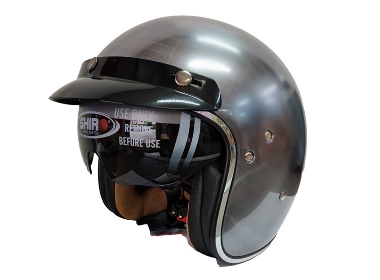 CASCO SHIRO JET SH235 SCRATCHED CHROME XS