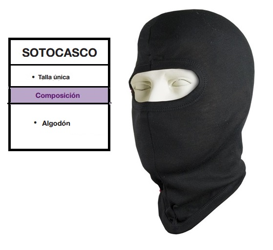 SOTOCASCO UNIK ALGODON NEGRO