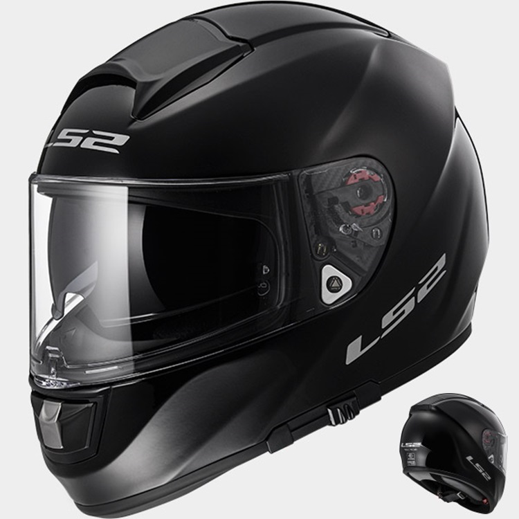 CASCO LS2 INTEGRAL VECTOR FF397 NEGRO BRILLO (TEST) M