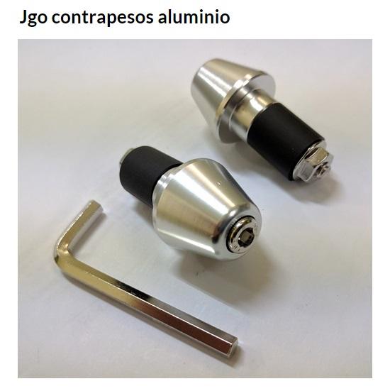 CONTRAPESO MANILLAR CONICO PLATA JUEGO
