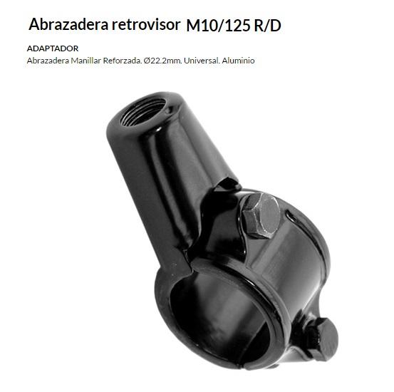 ABRAZADERA ESPEJO M10/125 R/D
